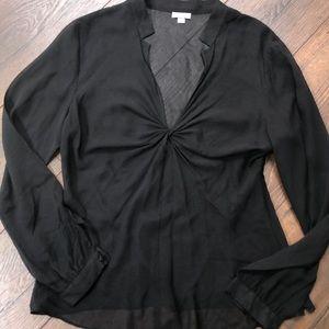 Ann Taylor Sheer twist blouse